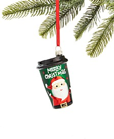 Santa's Favorites Coffee To Go Cup Ornament, Created for Macy's