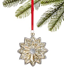 Shine Bright Glass Flower Ornament, Created for Macy's