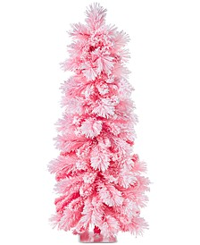 Shimmer & Light, Hot Pink Flocked Tree, Created for Macy's