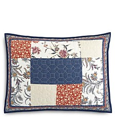 Mind Your Manor Floral Patchwork Quilted Standard Sham, Created for Macy's