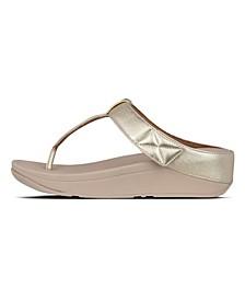 Women's Mina Leather Toe-Thongs Sandal