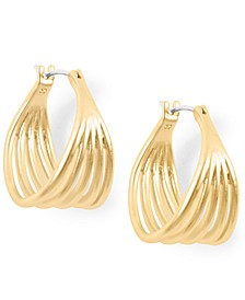 Gold-Tone Small 5-Row Hoop Earrings, 0.87""