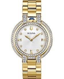 Women's Rubiyat Diamond (1 ct. t.w.) Gold-Tone Stainless Steel Bracelet Watch 35mm