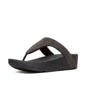 Fitflop FITFLOP WOMEN'S LOTTIE SHIMMER MESH TOE-THONGS SANDAL WOMEN'S SHOES