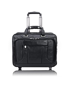 "West Town 15"" Fly-Through Checkpoint-Friendly Patented Detachable -Wheeled Laptop Briefcase"