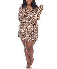 Plus Size Long Sleeve Nightgown