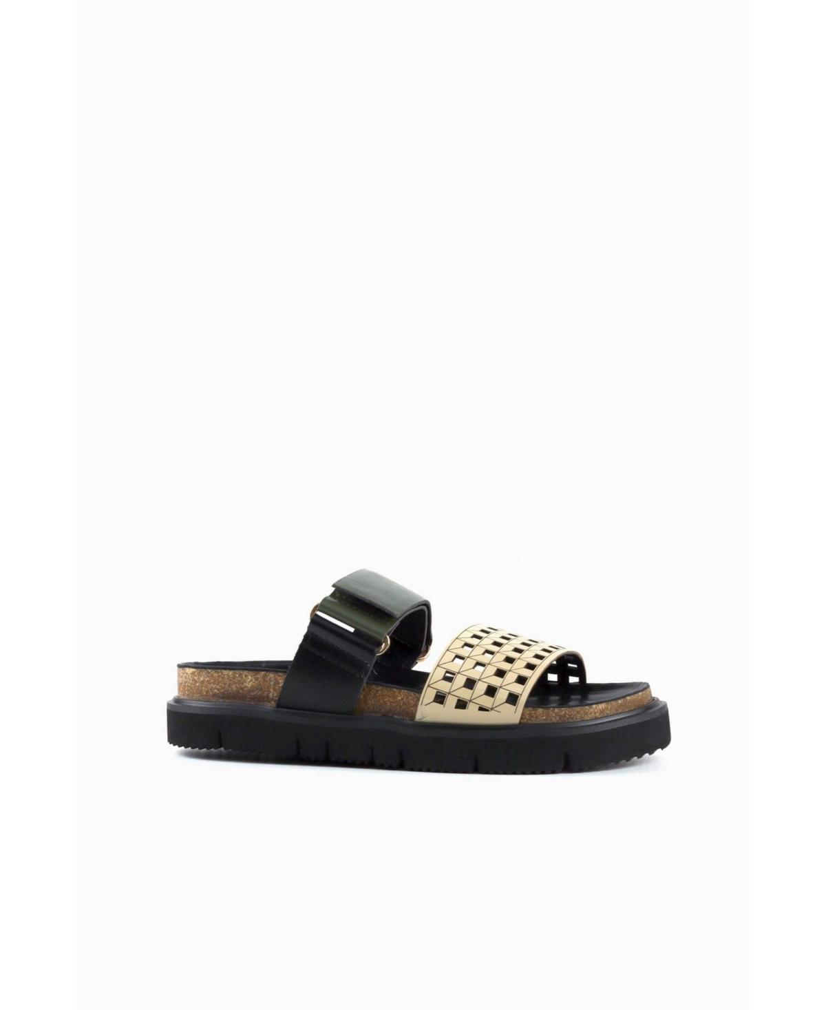 Women's Square Perf Lowform Sporty Slip-On Sandals Women's Shoes