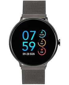 Men's Sport Gunmetal Mesh Bracelet Touchscreen Smart Watch 43.2mm