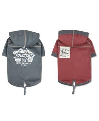 'Cloudburst' Water-resistant Reversible Dog Raincoat X-Small