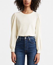 Flora Cotton Puff-Sleeve Top