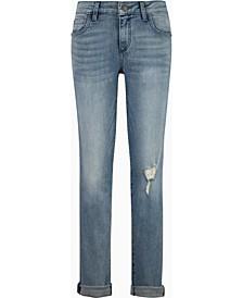 Rolled-Hem Boyfriend Jeans