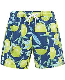 BOSS Men's Lemon Shark Quick-Dry Swim Shorts