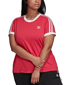 Plus Size Women's 3 Stripe Tee