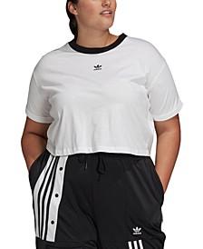 Plus Size Cotton Cropped Top