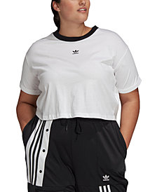 adidas Plus Size Cotton Cropped Top