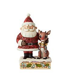 Santa Hugging Rudolp