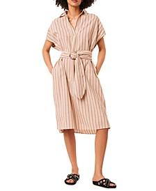 Verve Striped Belted Dress