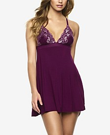 Women's Demure Stretch Lace and Modal Chemise
