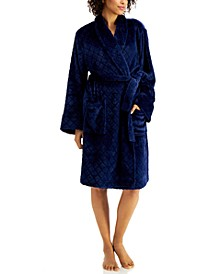 Short Carved-Diamond Cozy Robe, Created for Macy's