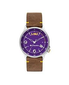 Men's Canyon Ridge LSU Saddle Leather Watch 45mm