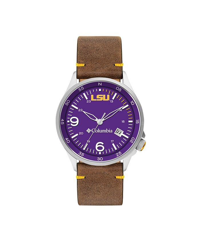 Columbia - Men's Canyon Ridge LSU Saddle Leather Watch 45mm