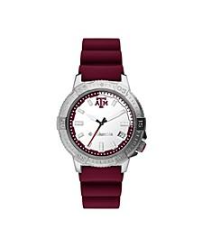 Men's Peak Patrol Texas A M Silicone Strap Watch 45mm