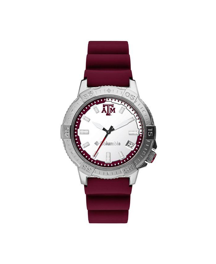 Columbia - Men's Peak Patrol Texas A M Silicone Strap Watch 45mm
