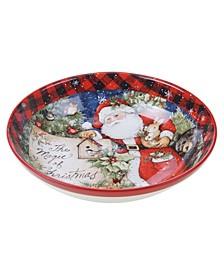 CLOSEOUT! Magic of Christmas Santa Serving Bowl