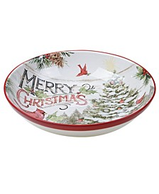 Evergreen Christmas Serving Bowl