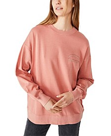 Lulu Graphic Oversized Crew Sweatshirt