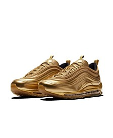 Men's Air Max 97 Gold Medal Casual Sneakers from Finish Line