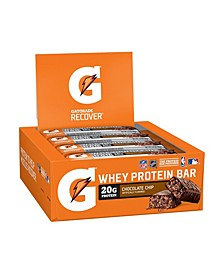 Recover Chocolate Chip Whey Protein Bar, 2.8 oz, 12 Count