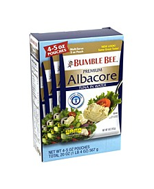 Premium Albacore Tuna Pouches, 5 oz, 4 Count