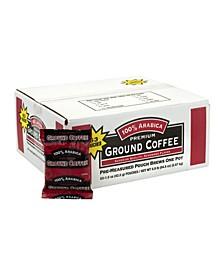 Arabica Premium Ground Coffee Pre-Measured Pouch, Pack of 63