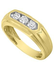 Men's Diamond (1/2 ct.t.w.) Ring in 10k White or Yellow Gold