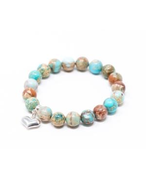 Jasper Sea Sediment with Heart Give Back Bracelet