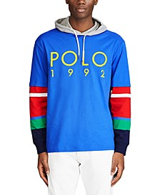 Men's Colorblocked Logo Graphic Hooded T-Shirt