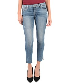 Reese Side-Slit Ankle Jeans