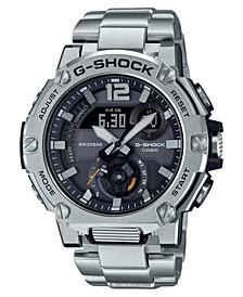 Men's Analog-Digital G-Steel Stainless Steel Bracelet Watch 43mm Gift Set