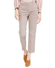 Astrale Printed Straight-Leg Trousers