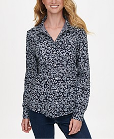Printed Button-Up Shirt