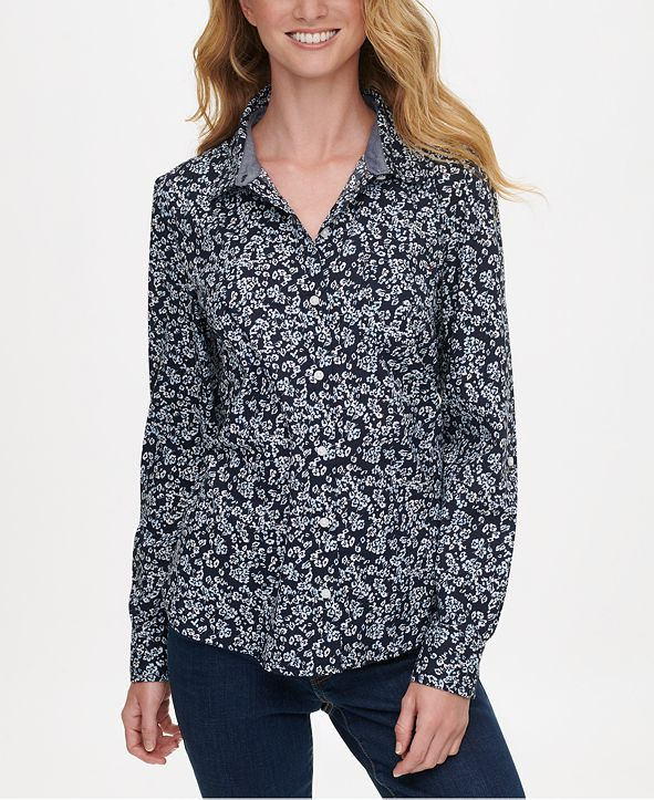 Tommy Hilfiger Printed Button-Up Shirt