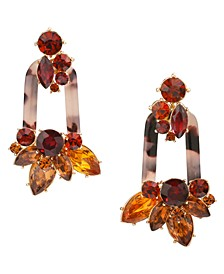 INC Gold-Tone Stone Cluster & Tortoise-Look Link Linear Drop Earrings, Created for Macy's