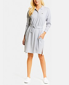 Belted Polo Shirtdress