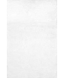"Maginifique Shag WICL1A White 2'8"" x 8' Runner Rug"