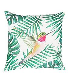 """Outdoor Summer Bird 20"""" x 20"""" Decorative Pillow"""