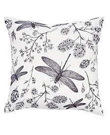 "Outdoor Dragonflies 20"" x 20"" Decorative Pillow"