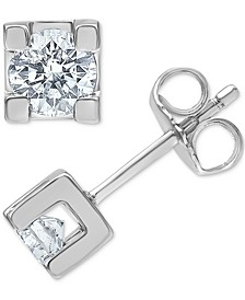 Diamond (1/2 ct. t.w.) Stud Earrings in 14k White Gold