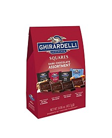 Premium Dark Chocolate Squares Assortment, 14.86 oz
