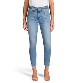 Tie-Waist Skinny Jeans